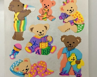 Vintage Sandylion Teddy Bear Stickers