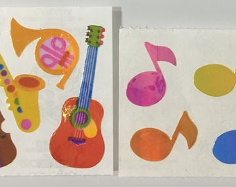 Vintage Set of Pearl Sandylion Musical Stickers