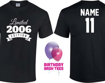 11 Year Old Birthday Shirt Or Hoodie 2006 Kids Limited Edition 11th