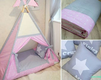 Handmade bed teepee tent for children ***READY TO GO ***