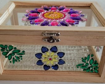 Bejeweled Clear Jewelry Box