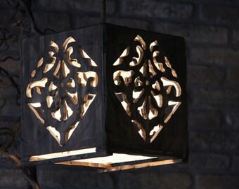 wood/wooden chandelier chandelier