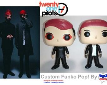 Custom Twenty one Pilots Funko Pops - Josh Dunn & Tyler Joseph