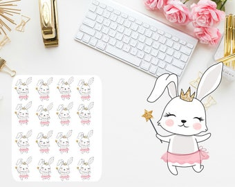 Fairy bunny planner stickers