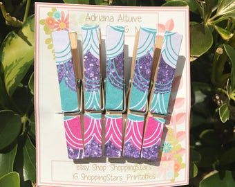 Decorated Clothespin, fashion Clothespin, photo pins, gift tags, clothespin favors