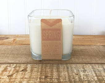 Spring 100% Soy wax hand-poured 9oz Candle