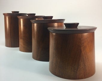 Gladmark walnut canister set