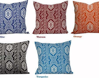 Geometric throw pillows 22x22 pillow 16x16 pillow orange 18x18 pillow cover black 20x20 outdoor pillows cases 24x24 pillow covers blue white