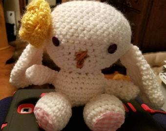 Crocheted Easter bunny