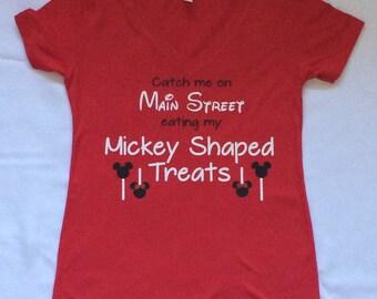 Main Street & Mickey Shaped Treats, Disney, Disney shirts for women
