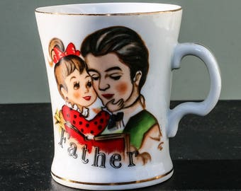 Vintage Father's Coffee Cup