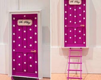 """Novedad! Puerta inglesa del ratoncito Pérez """"White Dots"""", tooth fairy door, puertas ratón Pérez, decoración infantil, hada de los dientes"""