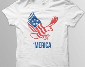 4th of July shirt adult 'Merica shirt  USA shirt July 4th shirt Merica shirt