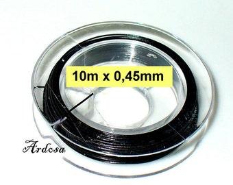 1 coil, 10m wire 0, 45 mm black (1045.31)