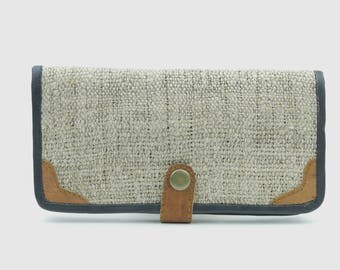 Handmade Hemp/Leather Womens Wallet
