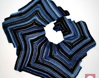 Crochet shawl Duinen-shawl duinen-chal duinen-crochet