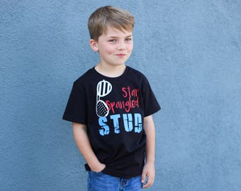 Star Spangled Stud, Boys Fourth of July shirts, Baby Boy July 4th, July 4th Shirt, Red White Blue, Independence Day, Memorial Day, Patriotic