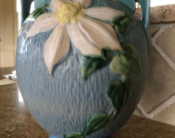 Roseville Pottery Clematis Vase circa 1940's