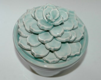 Succulent green ceramic