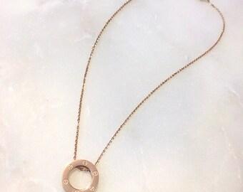Circle of life Necklace, Karma Necklace, Circle Necklace, Love Necklace, Eternity Necklace, Circle Pendant | Suradesires