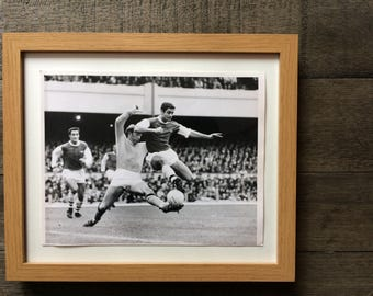 Perfect gift for him - 1967 Original press photo Arsenal v Manchester City - photograph - rare football memorabilia - Football and Rugby