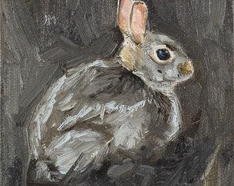ORIGINAL OIL PAINTING Wild Rabbit