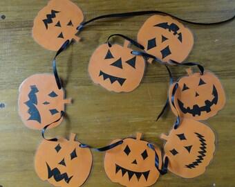Pumpkin Characters Bunting