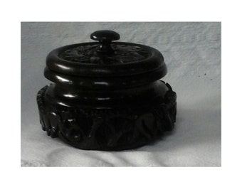 African classic jewelry box made from ebony wood
