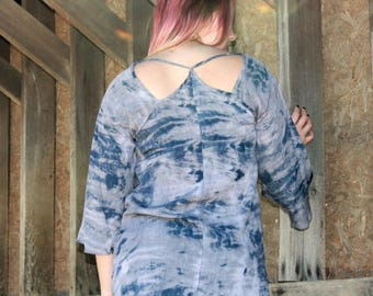 Monogrammed - Tie Dyed Boho Summer Gypsy Top Tunic