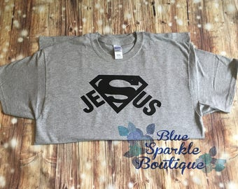 Adult Superman Jesus Shirt