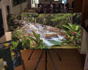 Dunns River Jamaica Waterfall wall art canvas .... various sizes available