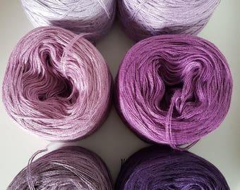 6 x Zwergenbobbel lace yarn knit crochet handmade
