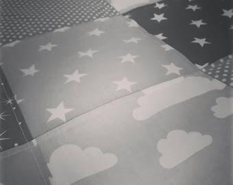 Grey Cloud Design Neutral Baby/Toddler Quilt