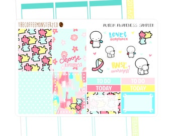 autism charity sampler ( erin condren planner stickers )