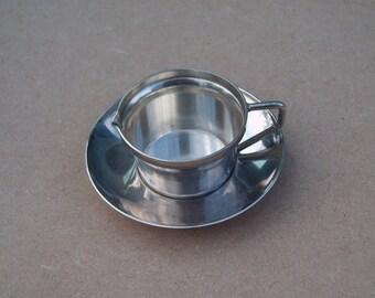 Mini Jug & Saucer - Silver Plated - Gersyl M.B - Vintage Silverplate