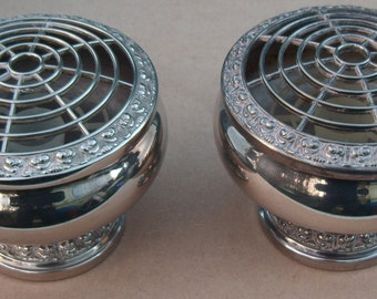 Rose / Posy Bowls - Silver Plated - IANTHE - Vintage Silverplate