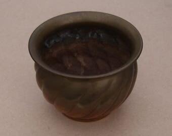 Brass Jardiniere / Planter / Plant Pot Holder - Patterned - Vintage Brass