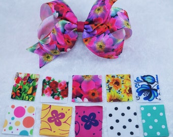 Set of 10 Girls Hair Bows Boutique Hair Bows baby hair bows baby bows baby hair setinfant hair set infant bows set baby bows set felt bows