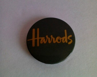 Harrods Department Store Pinback