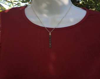 Chain and Swarovski rhinestone pendant necklace