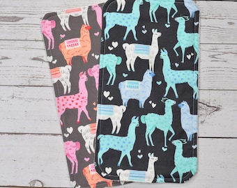 Personalized llama Burp Cloths-Monogrammed Llama Burp Cloth-Personalized Llama Burp Cloth-Nursing cloth-Llama Mint burp cloth-Rags