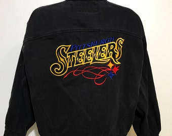 Vintage Pittsburgh Steelers Jean Jacket L/XL