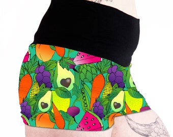 Plant Power Fold Over Shorts. Pole Dance Shorts Pole Fitness Shorts. Booty Shorts. Yoga Shorts. Fruit Shorts. Vegetable Shorts. Vegan Shorts