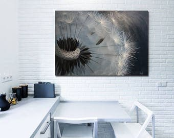 Large Wall  Art  Large Painting Original oil painting Dandelion Interior decor Wall Decor On Canvas housewarming gift  Gift Idea