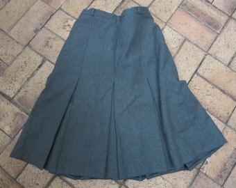 Vintage Classic Hunter's Green Wool Skirt