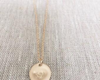 Shaka initial charm necklace