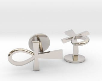 Ankh Cufflinks | Wedding Geek & Gaming Cuff links | Available as Sets
