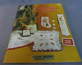 Counted Cross Stitch Patterns, Christmas Counts, Gloria and Pat Designs, 1978 Includes Tree Skirt Insert