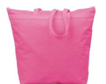Custom Tote bag - zipper YOU PICK DESIGN!