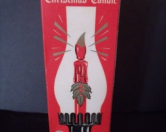 Mid Century Timco Electric Hurricane Christmas Candle, Retro Holiday Decor, Vintage Lighting, (# 880/LS2)